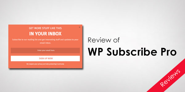WP_Subscrbe_Pro_Review